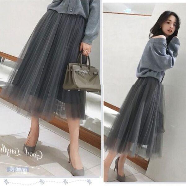 חצאית טול מותן ארוך