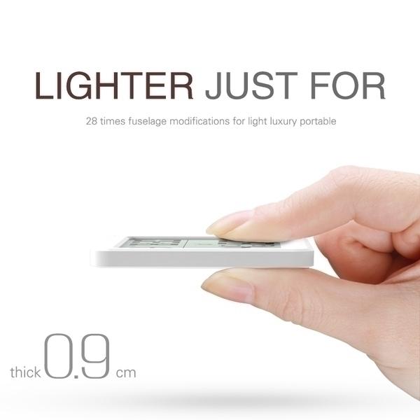 מד חום במסך LCD דק לחדר, ניתן לתלייה על הקיר