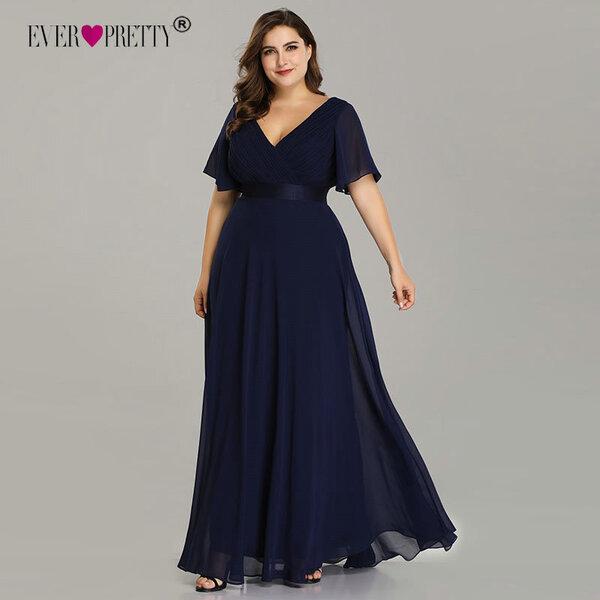 שמלת ערב אלגנטית במידות גדולות