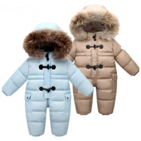 חליפת חורף חרמונית פרוותית לתינוקות