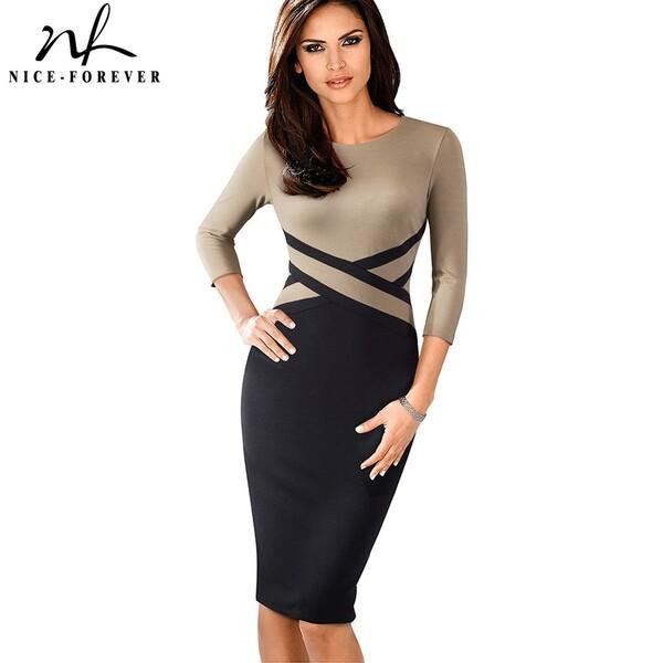 שמלה 3/4 אלגנטית לנשים