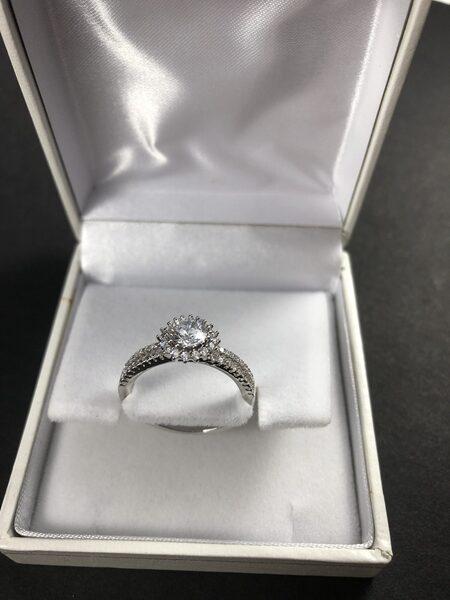 """טבעת כסופה מדגם """"מריאן"""""""