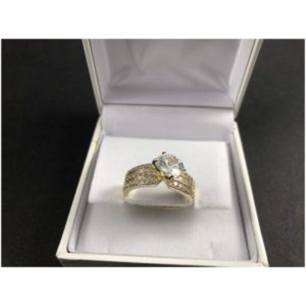"""טבעת מוזהבת דגם """"שרמנט"""""""