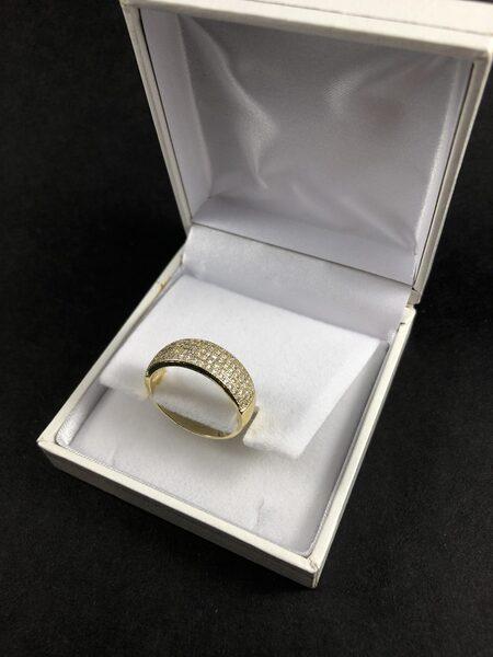 """טבעת בציפוי זהב דגם """"שבן"""""""