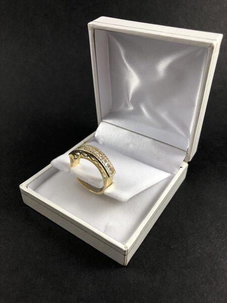 טבעת בציפוי זהב דגם ברידג'