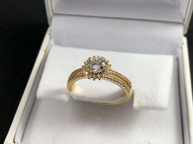 """טבעת בציפוי זהב דגם """"אימפגנו"""""""