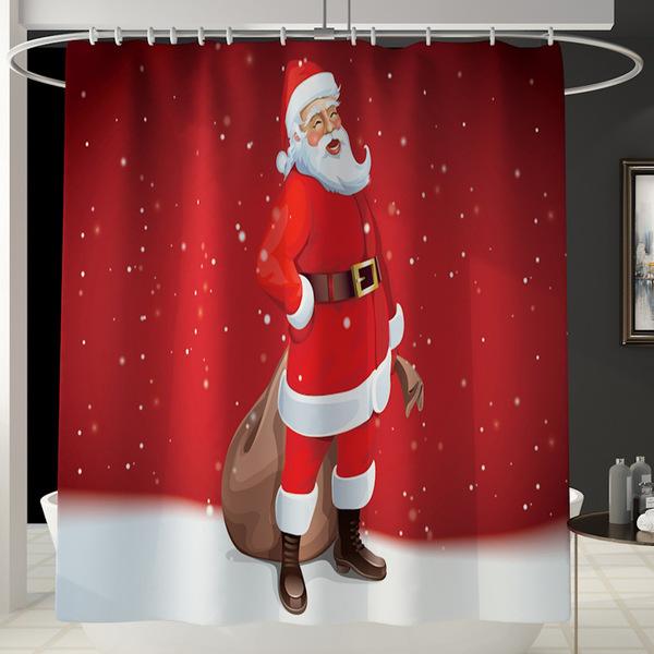סט וילון למקלחת חג המולד