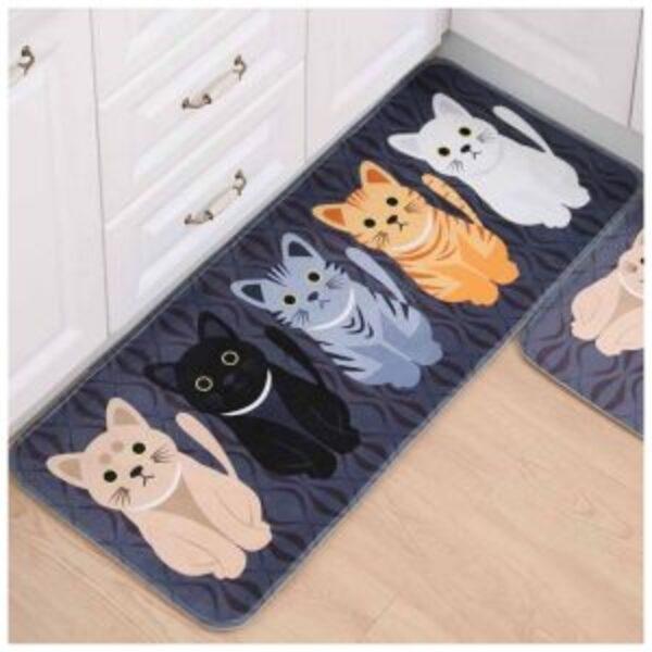 שטיחון הדפס חתולים למטבח / אמבט