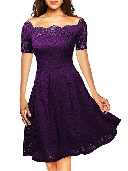 שמלת ערב אלגנטית קצרה