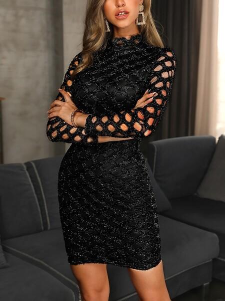 שמלת מיני שרוול ארוך