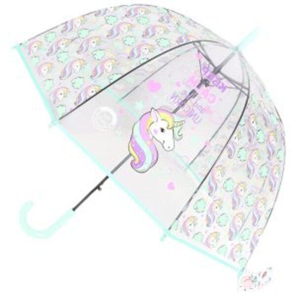 מטרייה שקופה עם הדפס לילדים