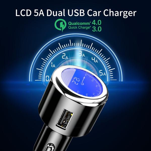 מטען מפצל USB לרכב