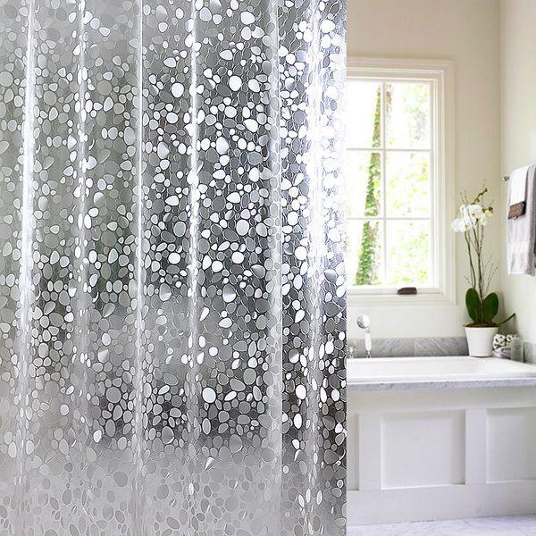 וילון מקלחת חצי שקוף