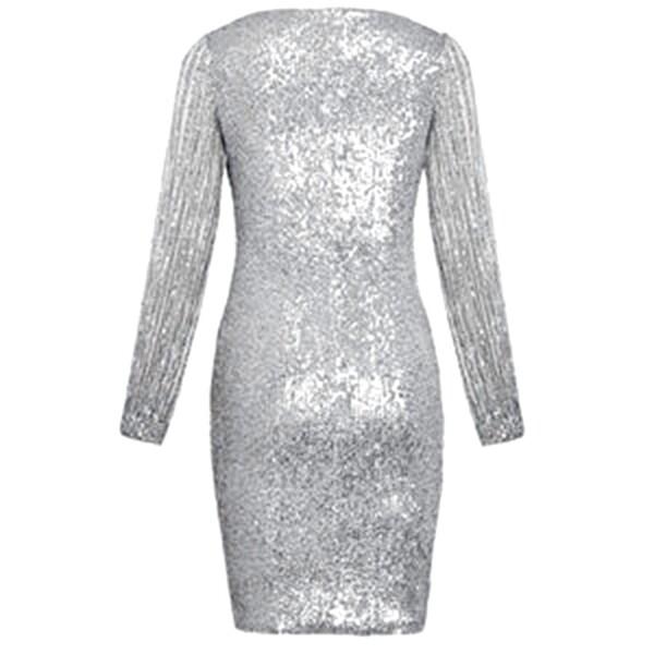 שמלת מיני שרוול ארוך פתוח