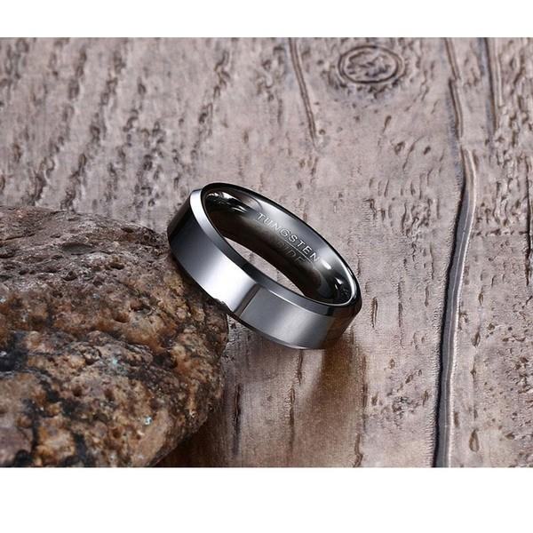 טבעת טונגסטן קרביד לגבר