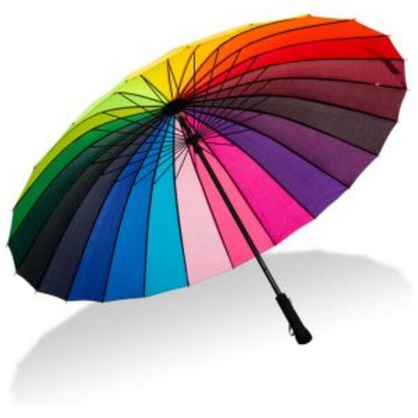 מטרייה גדולה בצבעי קשת בענן