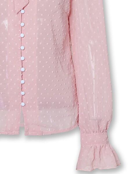 חולצה מעונבת אלגנטית ורודה