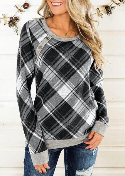 חולצת משבצות לאישה