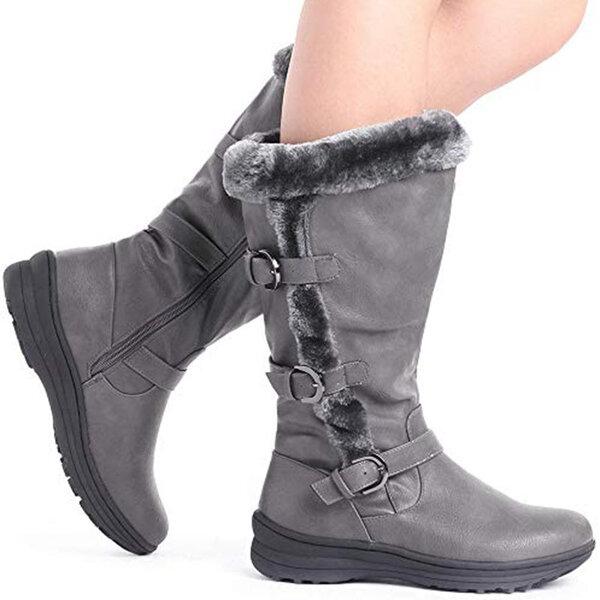 מגפיים גבוהות מחממות לנשים