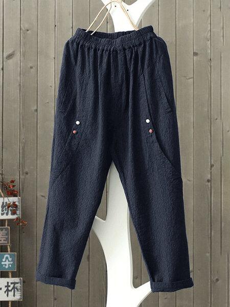 מכנסי נשים מידות גדולות בסגנון וינטאג'