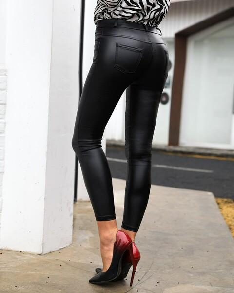 מכנסי עור PU לאישה
