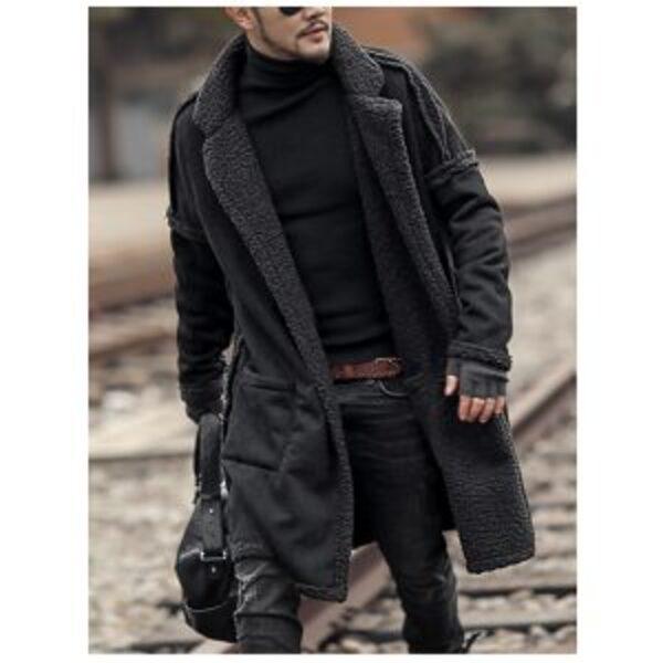 מעיל צמר דו צדדי לגבר מידות גדולות