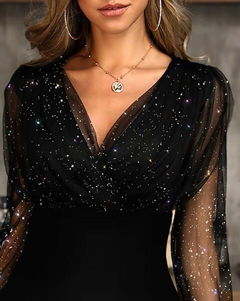 שמלת מיני שחורה לאירוע