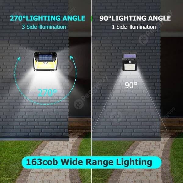 תאורת חוץ סולארית 163 לד
