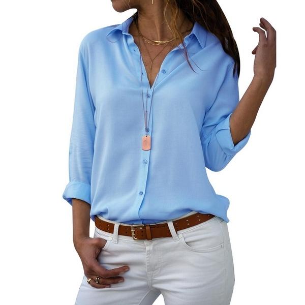 חולצה מכופתרת קלילה לנשים