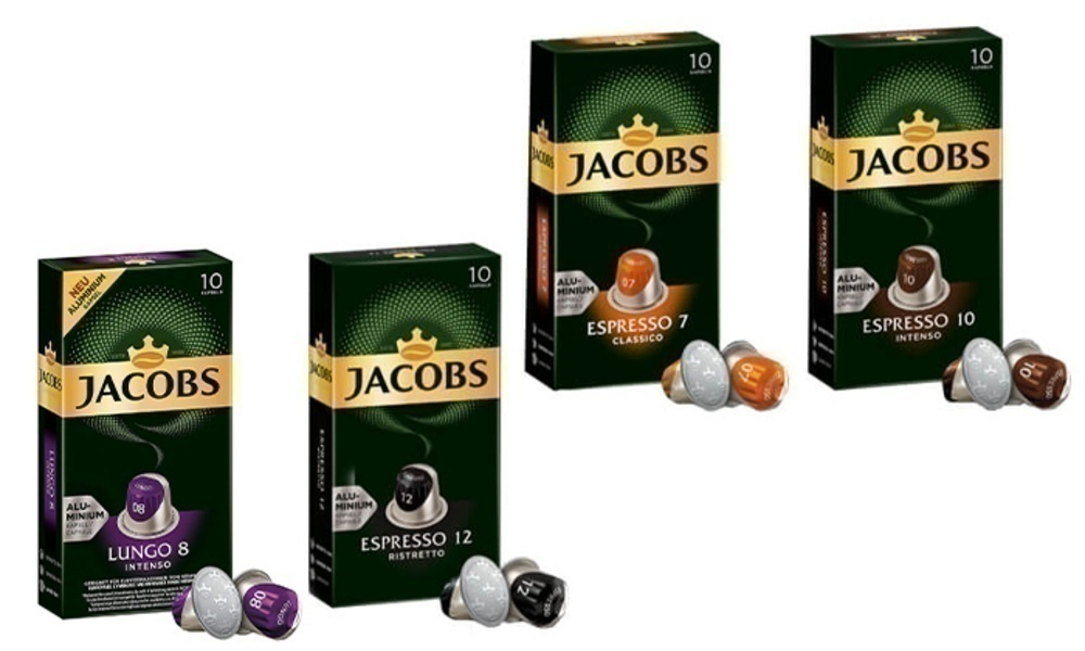 100 קפסולות קפה של ג'ייקובס