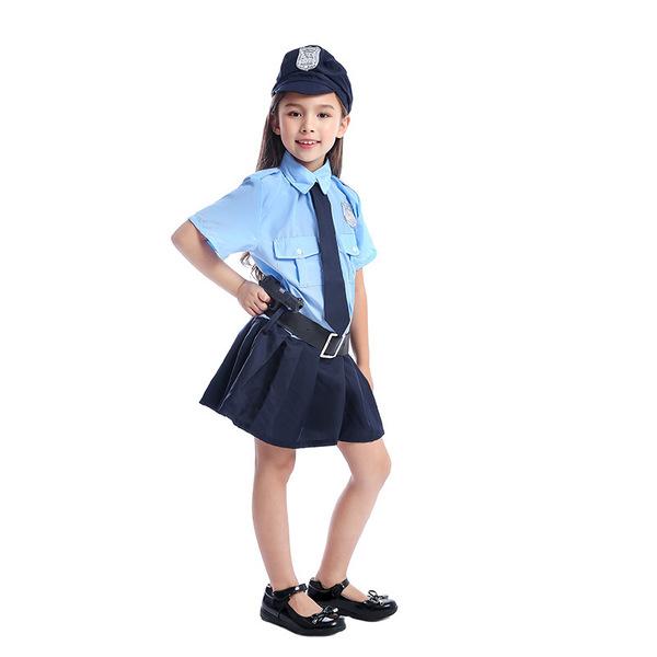 תחפושת שוטרת לילדות 3-14 שנים