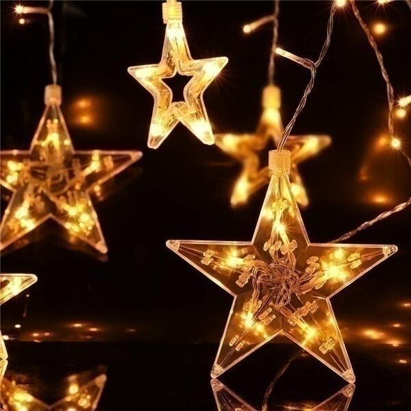 שרשרת מנורות לד כוכבים
