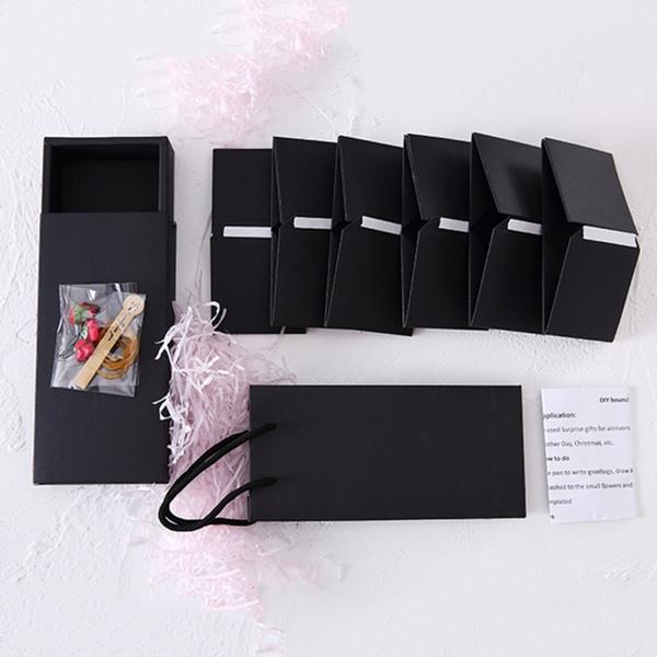 סט 6 קופסאות נייר קופצות DIY