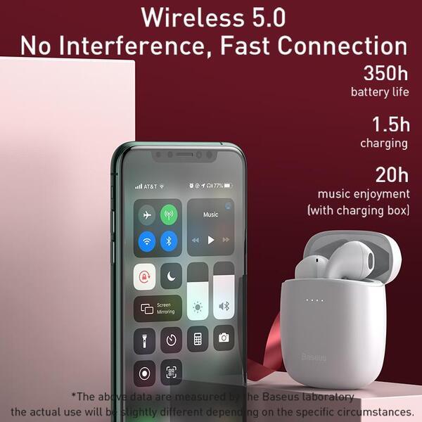 אוזניות TWS Baseus W04 Pro