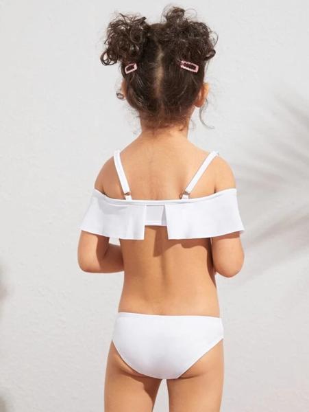 בגד ים בקיני לילדות צבע לבן
