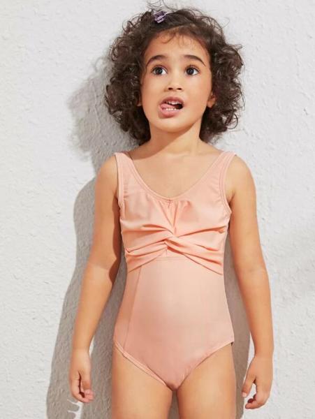בגד ים שלם לילדות בסגנון כיווצים