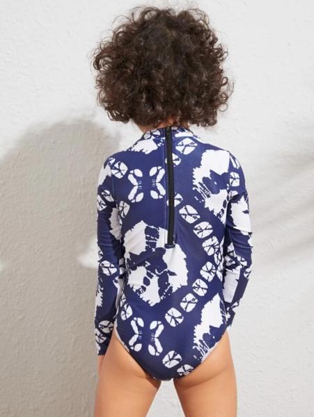 חליפת בגד ים שלם שרוול ארוך לילדות