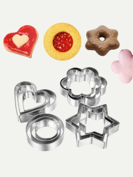 חותכני עוגיות 12 חלקים בגדלים שונים
