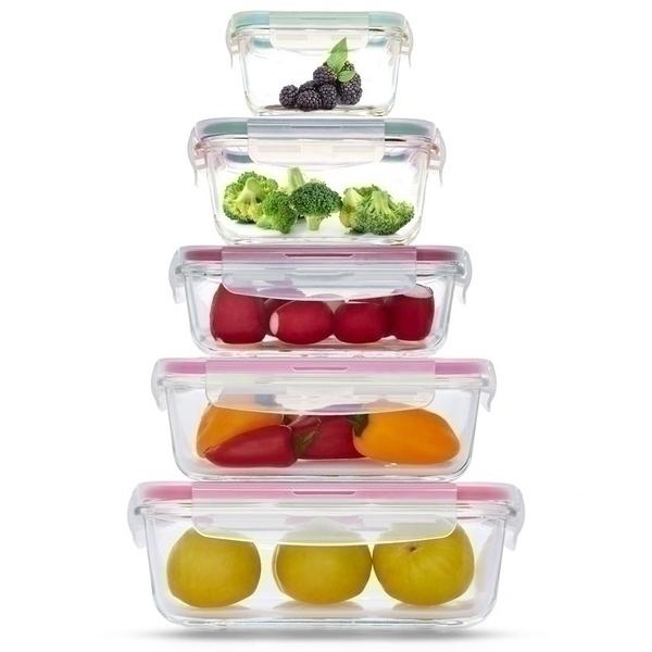סט 5 כלי אחסון זכוכית Food Appeal פוד אפיל