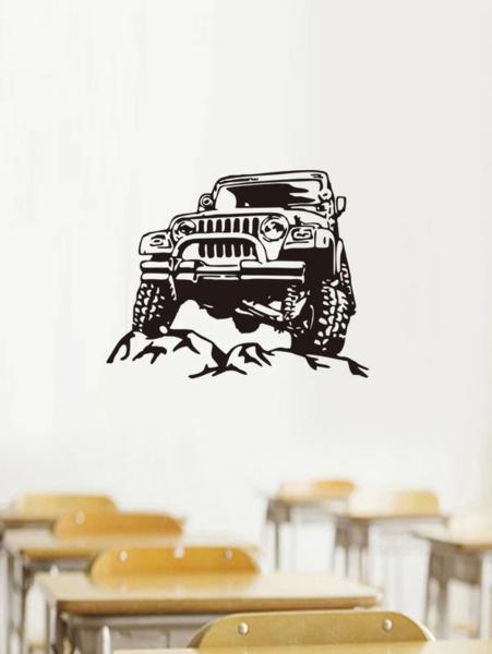 מדבקת קיר בהדפסת כלי רכב ספורטיבי