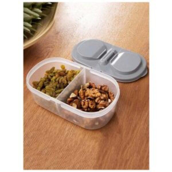 קופסת אחסון מזון מחולקת עם מכסה דו כיווני