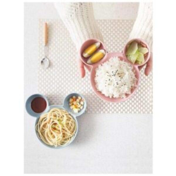 צלחת אוכל ילדים מעוצבת בצורת מיקי