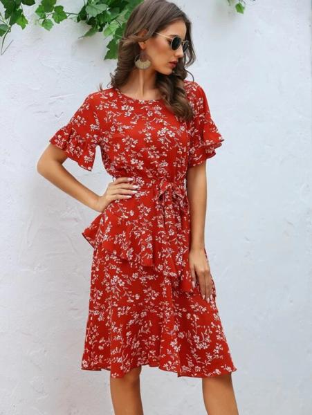 שמלת מידי אביבית