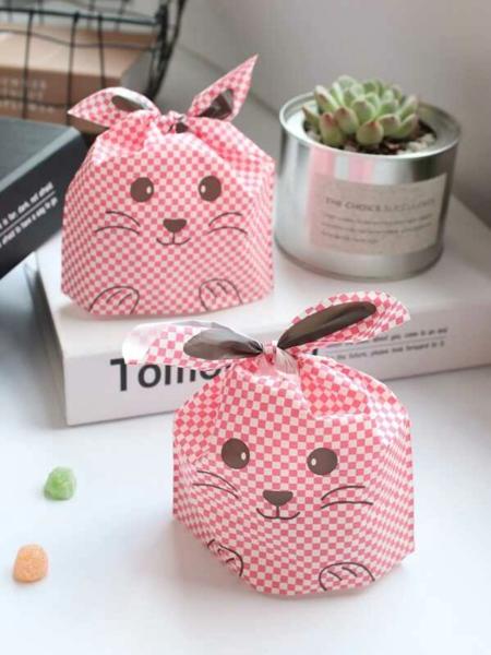 חבילת 50 יח' שקיות סנדוויץ' מדליקות, מעוצבות ארנב