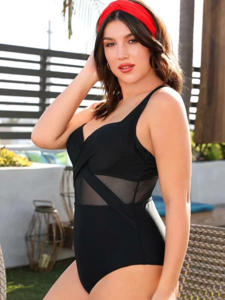 בגד ים שלם קרוס לנשים- מידות גדולות