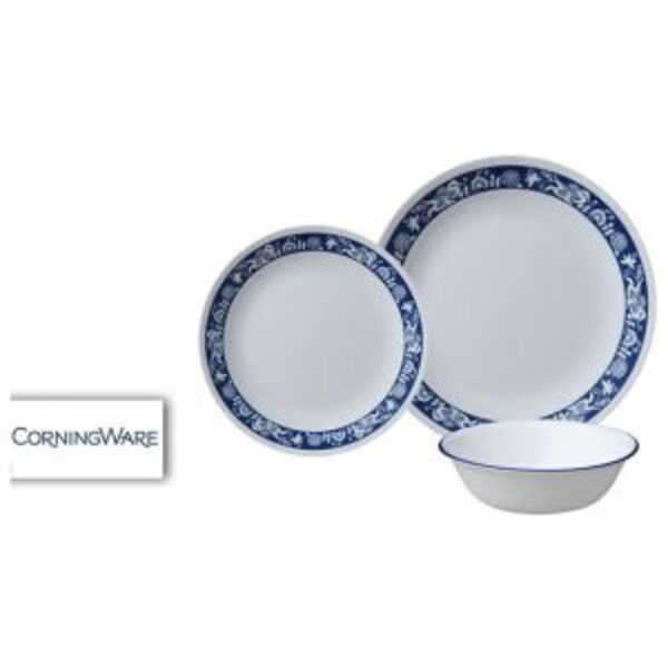 סט צלחות CORELLE® קורנינג ל-4 סועדים במגוון דוגמאות