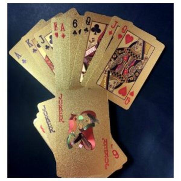 חפיסת קלפים זהב/ קלפי פוקר שחורים