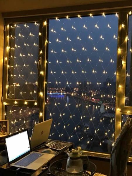 רשת דיג מוארת בנורות LED לאווירה רומנטית- גם בבית!