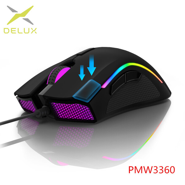 עכבר גיימינג 7 לחצנים Delux