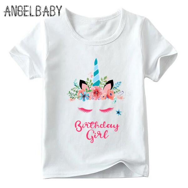 חולצת חד קרן לילדת יום הולדת